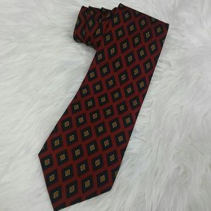 Vintage Burberry's Diamond Print Silk Tie